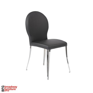 Alexa Side Chair (Set of 2) - Black/Chrome