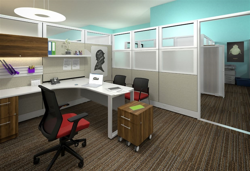 PRIVATE OFFICE CUBICLES-BWY-709