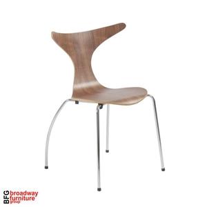 April Side Chair (Set of 4) - Walnut/Chrome