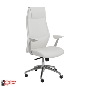 Dale High Back Office Chair - White/Aluminum
