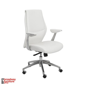 Dale Low Back Office Chair - White/Aluminum