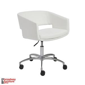 Amelia Office Chair - White/Chrome