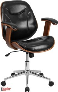 BFG Black Leather Executive Office Chair