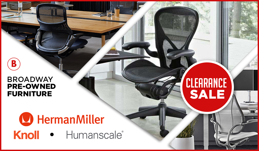 Herman Miller Aeron, Knoll and Humanscale Chair Liquidation – 6 DAYS LEFT!